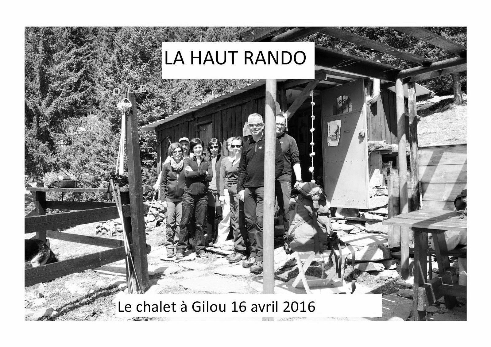 Sur les chemins de St André,le chalet de Gilou.