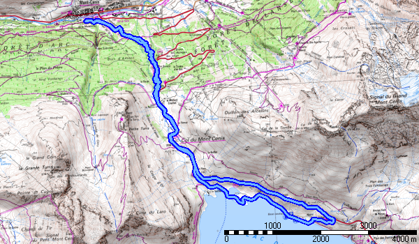 le parcours, 18 kms,900m+ (sur tout le parcours)