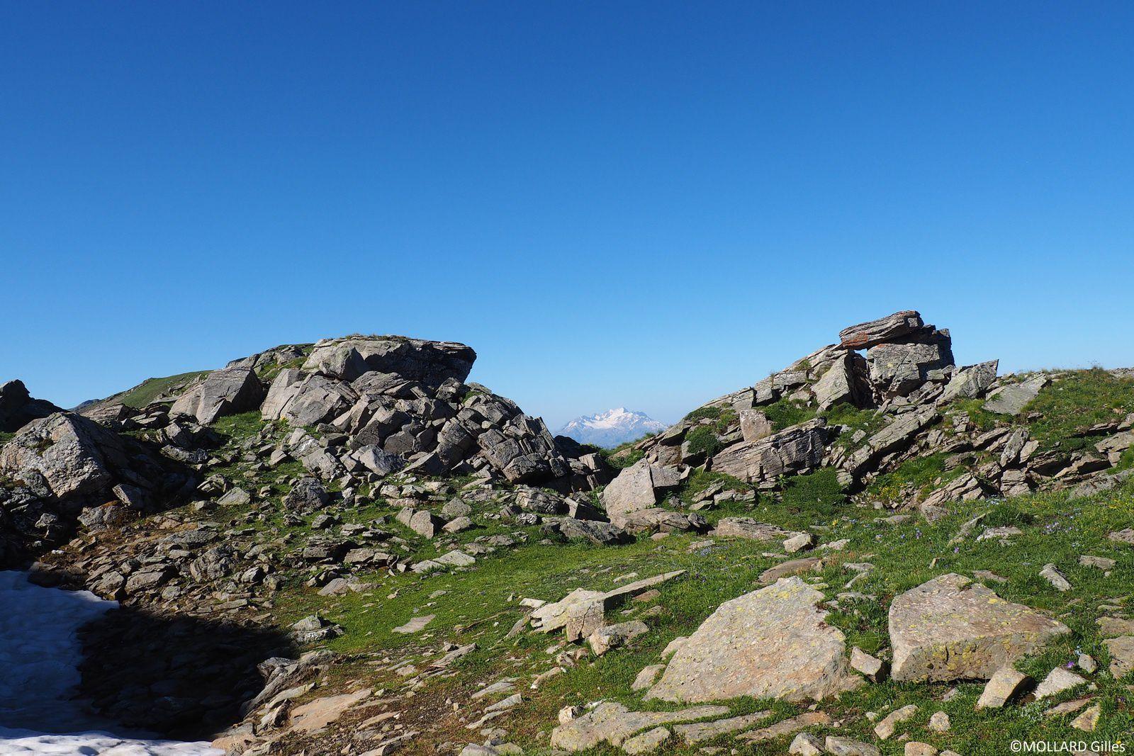 Le mont Blanc au centre.