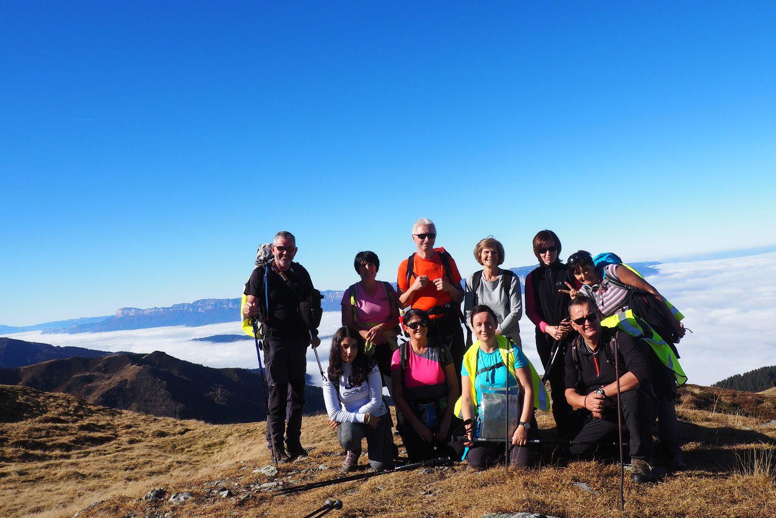 le groupe: debout depuis la gauche, Pascal,Marie Andrée,Gilles,Catherine,Cécile,Sylvie,accroupi au premier plan, Capucine,Marie Pierre,Valérie et moi.