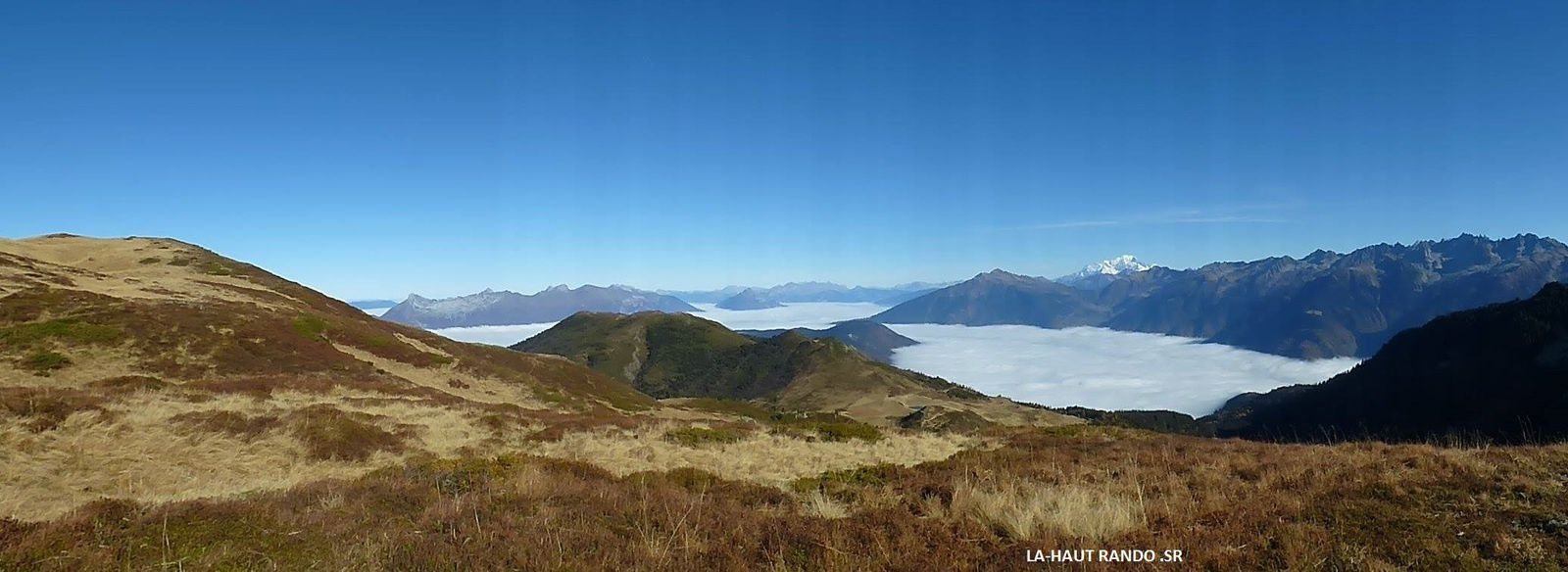 Rando au dessus de la mer de nuages, Arbarétan,Col de la Perche, Chapotet, Belledonne.