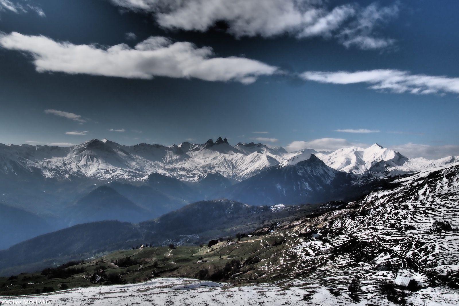 magnifique vue depuis le col de Cochemin