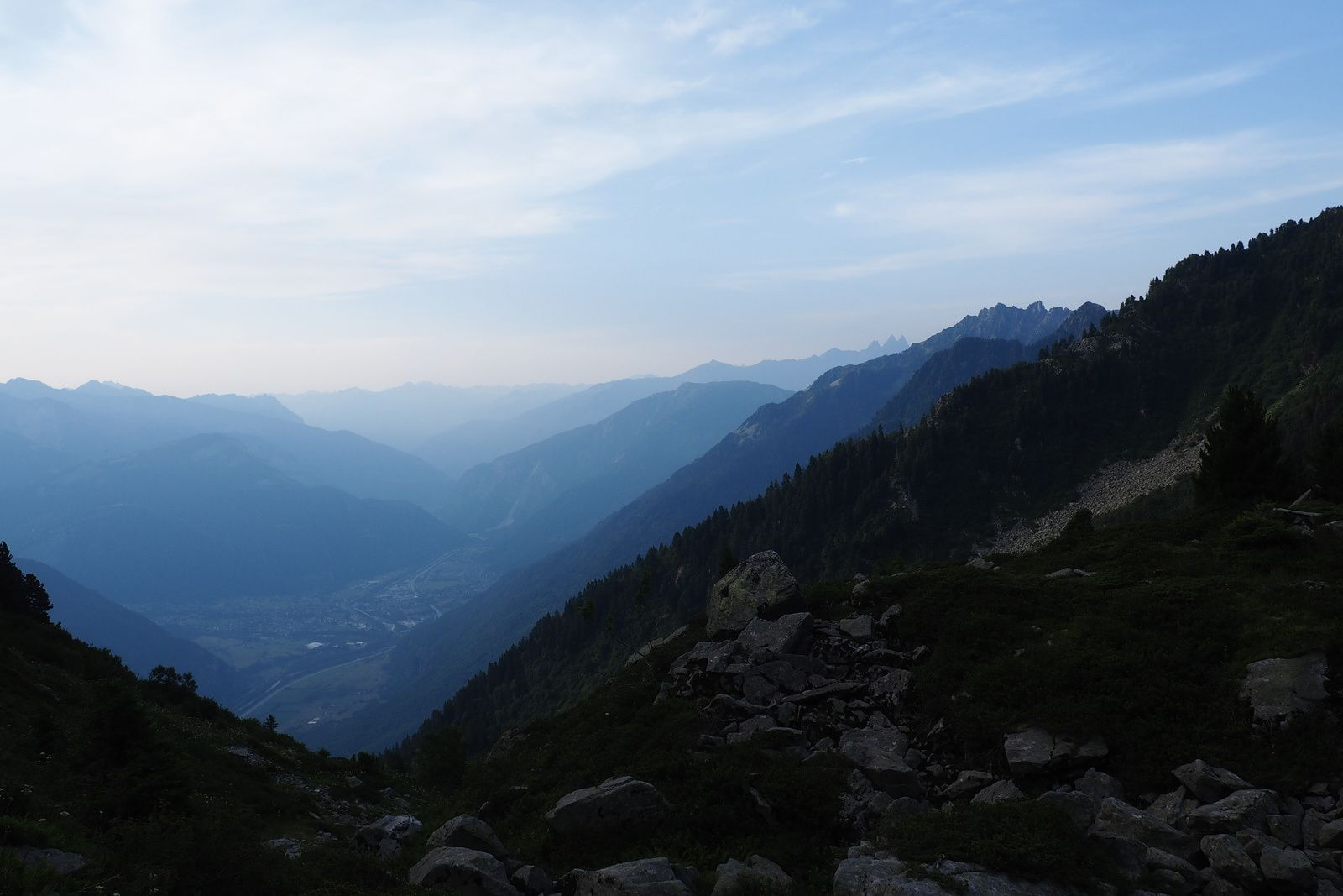 La vallée au fond