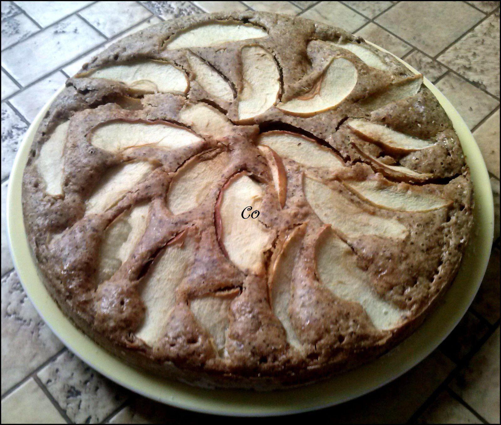 Gateau style baba au rhum aux pommes (sans gluten, sans lactose, sans oeufs)