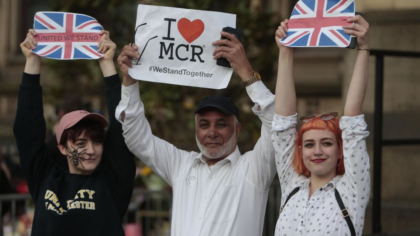 Tribute to the victims of Manchester.