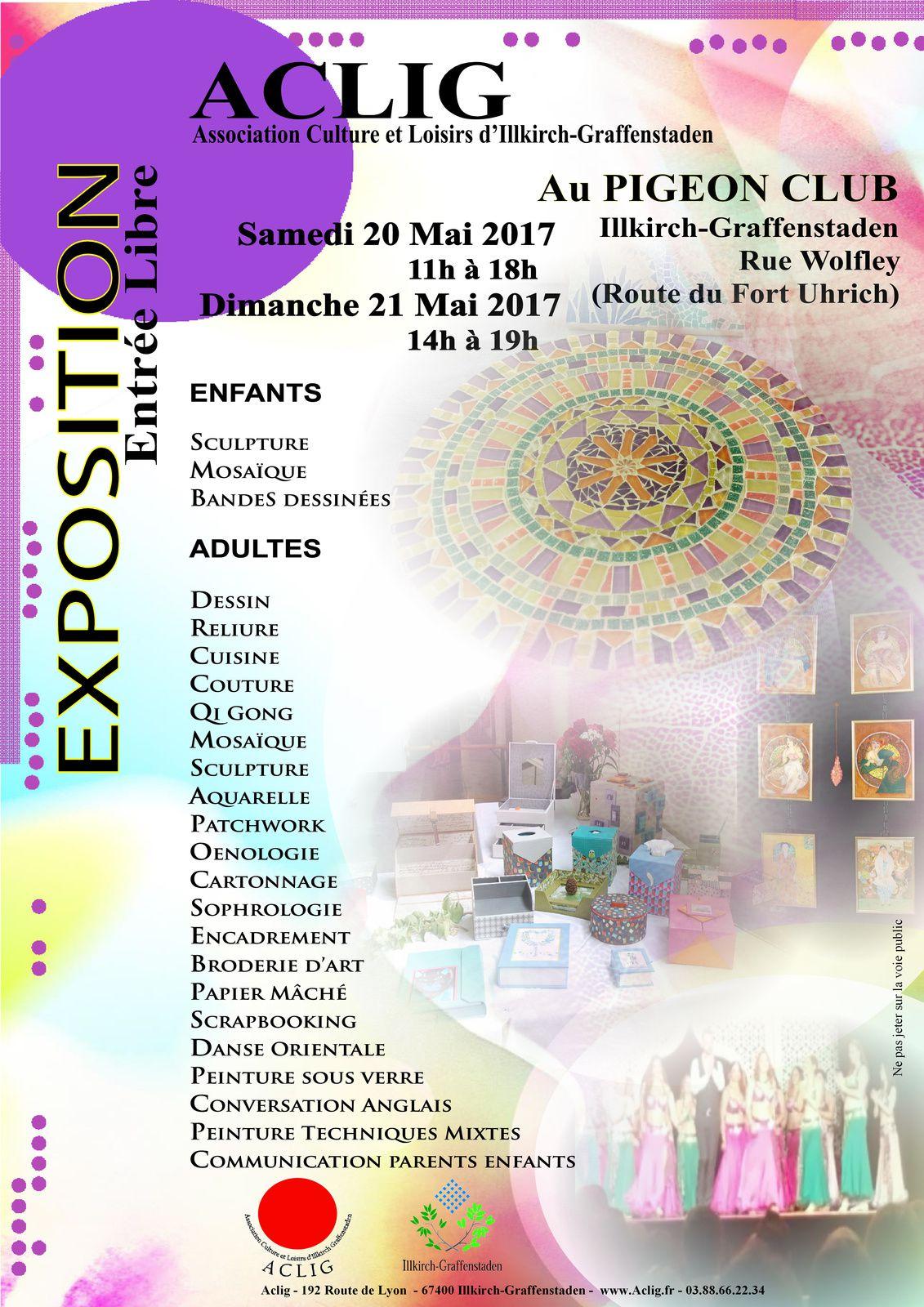Exposition Aclig 20 et 21 mai 2017
