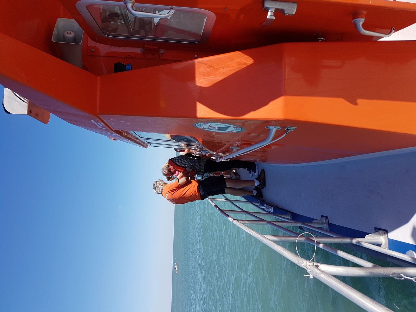 sortie en mer avec la SNSM, très sympa, encore merci à tous ses bénévoles