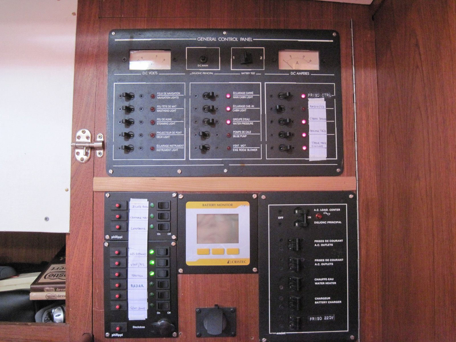 le tableau électrique avec le contrôleur