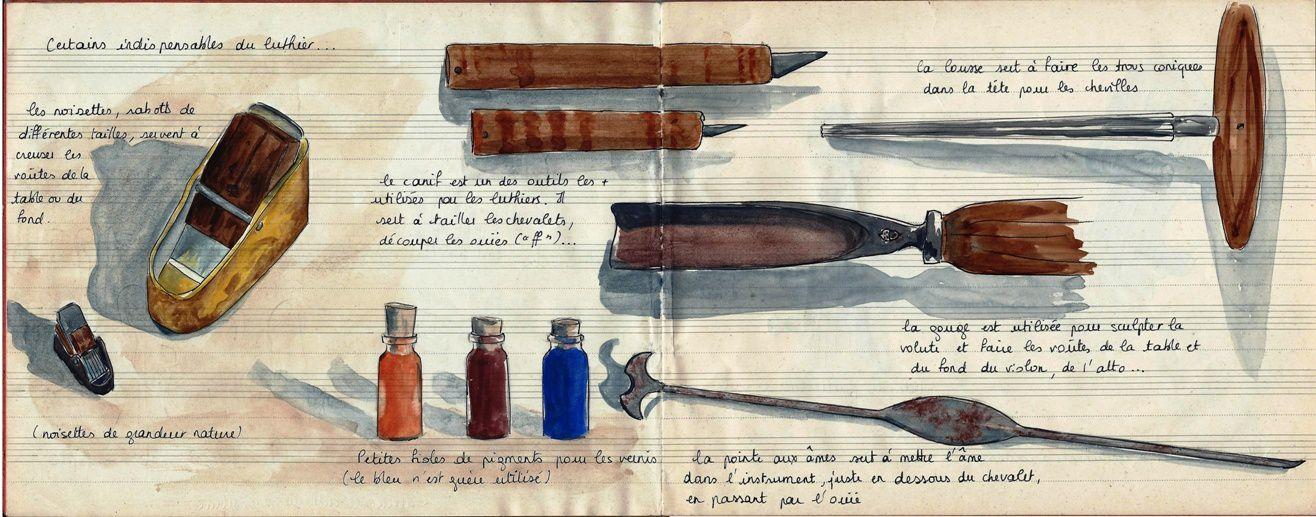 Les outils du luthier
