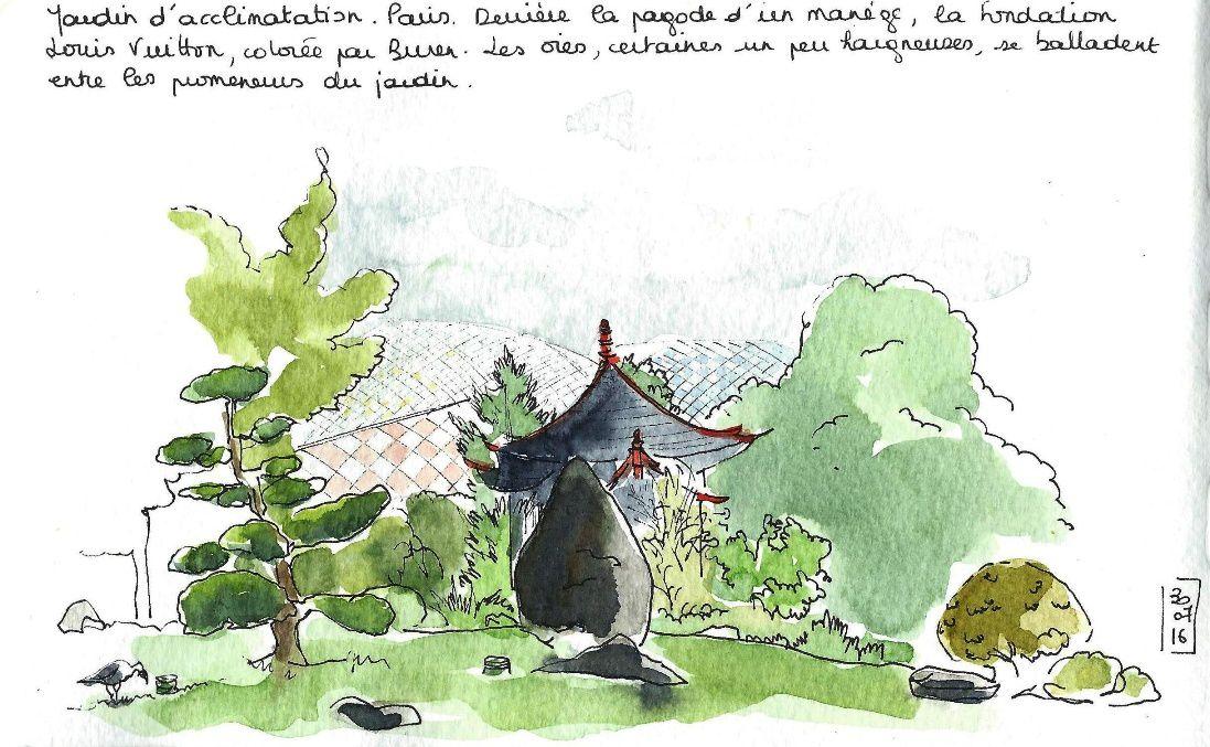 52e sketchcrawl au jardin d'acclimatation