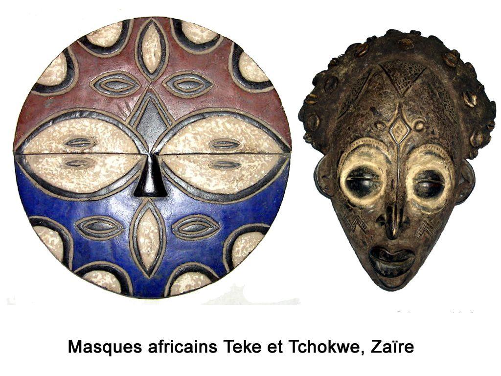 Masques rituels de différentes tribus africaines.