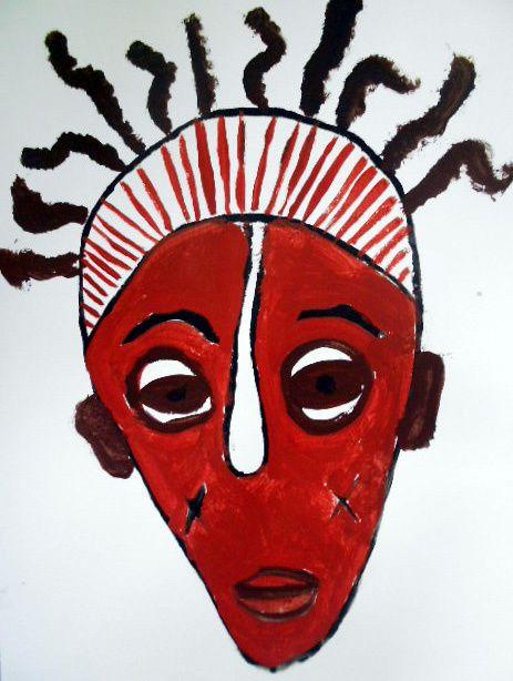 Peintures de masques africains 6°