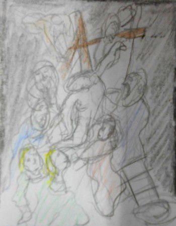 Croquis d'oeuvres de Nicolas Poussin, Jean-Siméon Chardin, Jacques-Louis David, Pierre-Paul Rubens, Edouard Manet, Le bernin, Claude Monet, Eugène Delacroix, Vincent Van Gogh, AUguste Rodin.