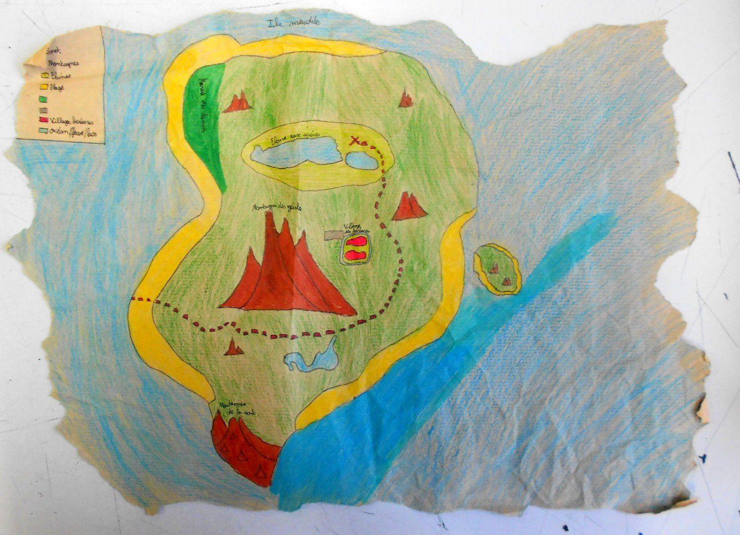 La carte de l'ïle au trésor - 5°