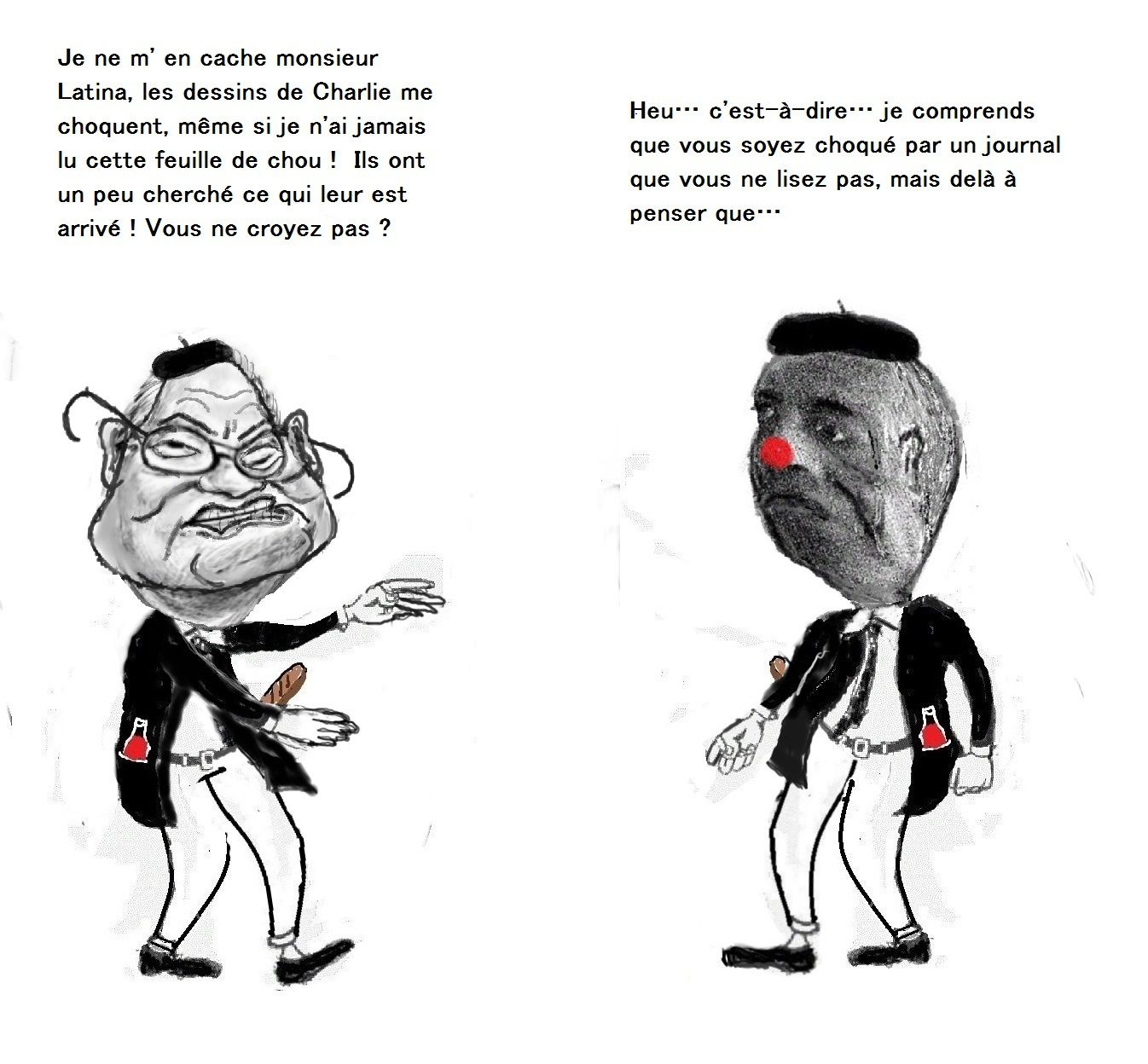 Dialogue de jean-Pierre Latina avec son voisin, Mr. Martinez