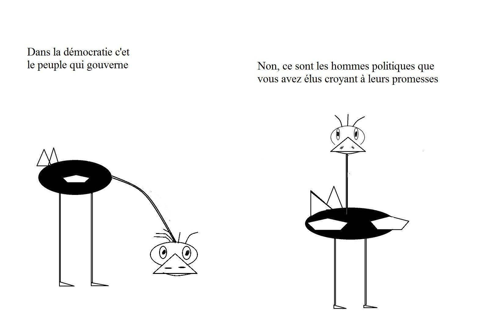 La démocratie est la pire forme de gouvernement totalitaire, à l'exception de tous les autres. Churchill.