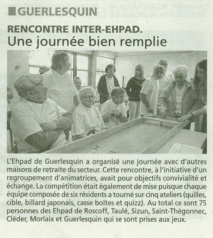 Rencontre inter ehpad