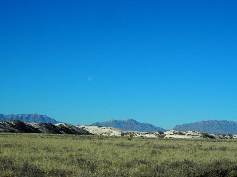 Quand nous arrivons dans le Parc  de White Sands, voici globalement ce que l'on voit au début.