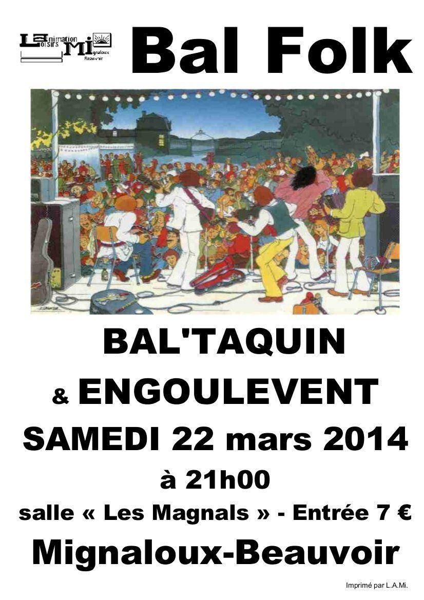 Bal le 22 Mars à Mignaloux-Beauvoir