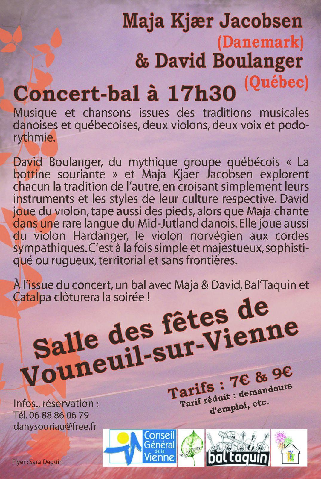 CONCERT-BAL LE 4 MAI A VOUNEUIL-SUR-VIENNE
