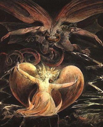 """""""Le Grand Dragon Rouge et la Femme vêtue du Soleil""""  William Blake"""