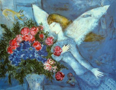 """Blue Angel""  Marc Chagall"