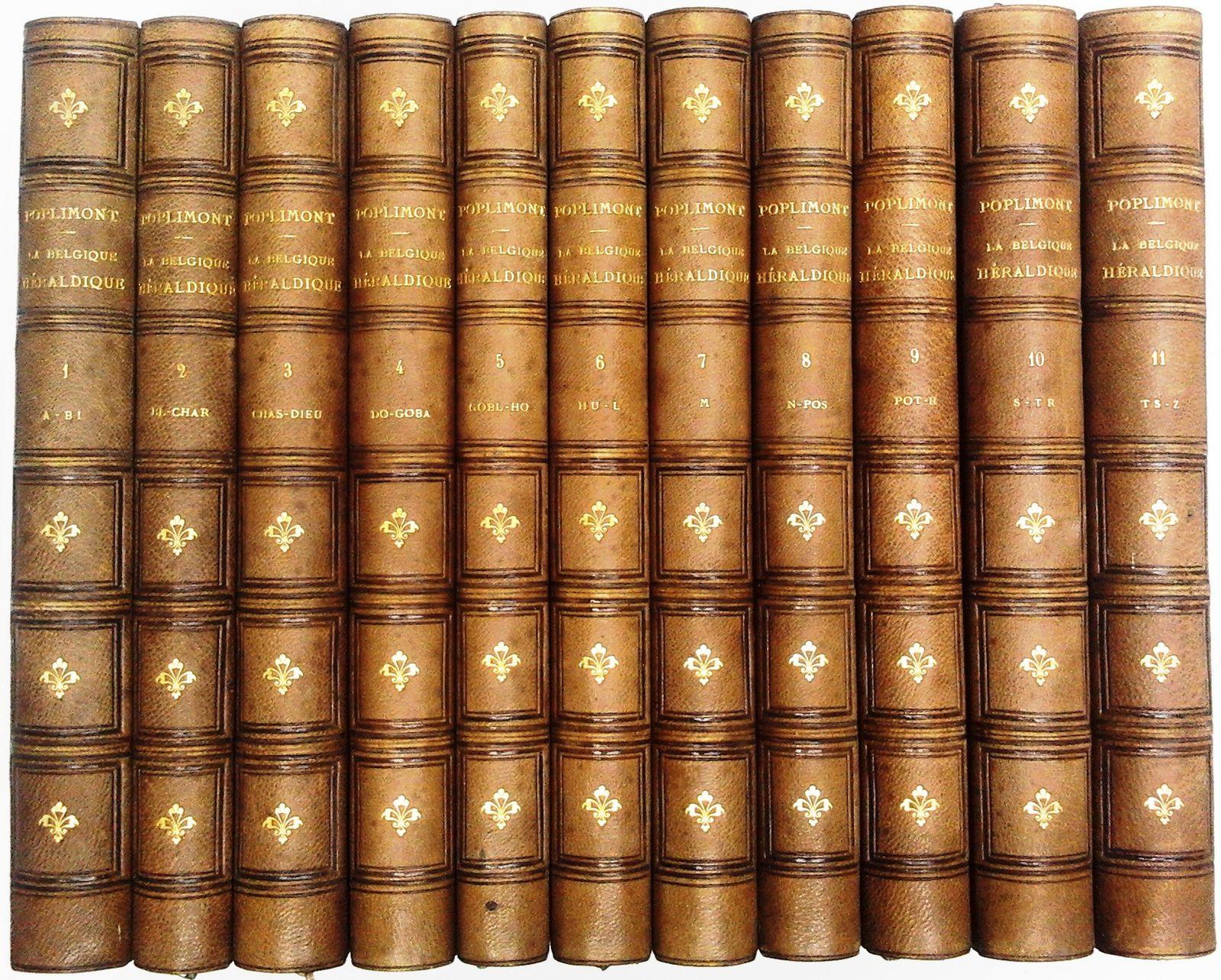 VENDU La Belgique héraldique. Recueil historique, chronologique, généalogique et biographique complet de toutes les maisons nobles reconnues par la Belgique