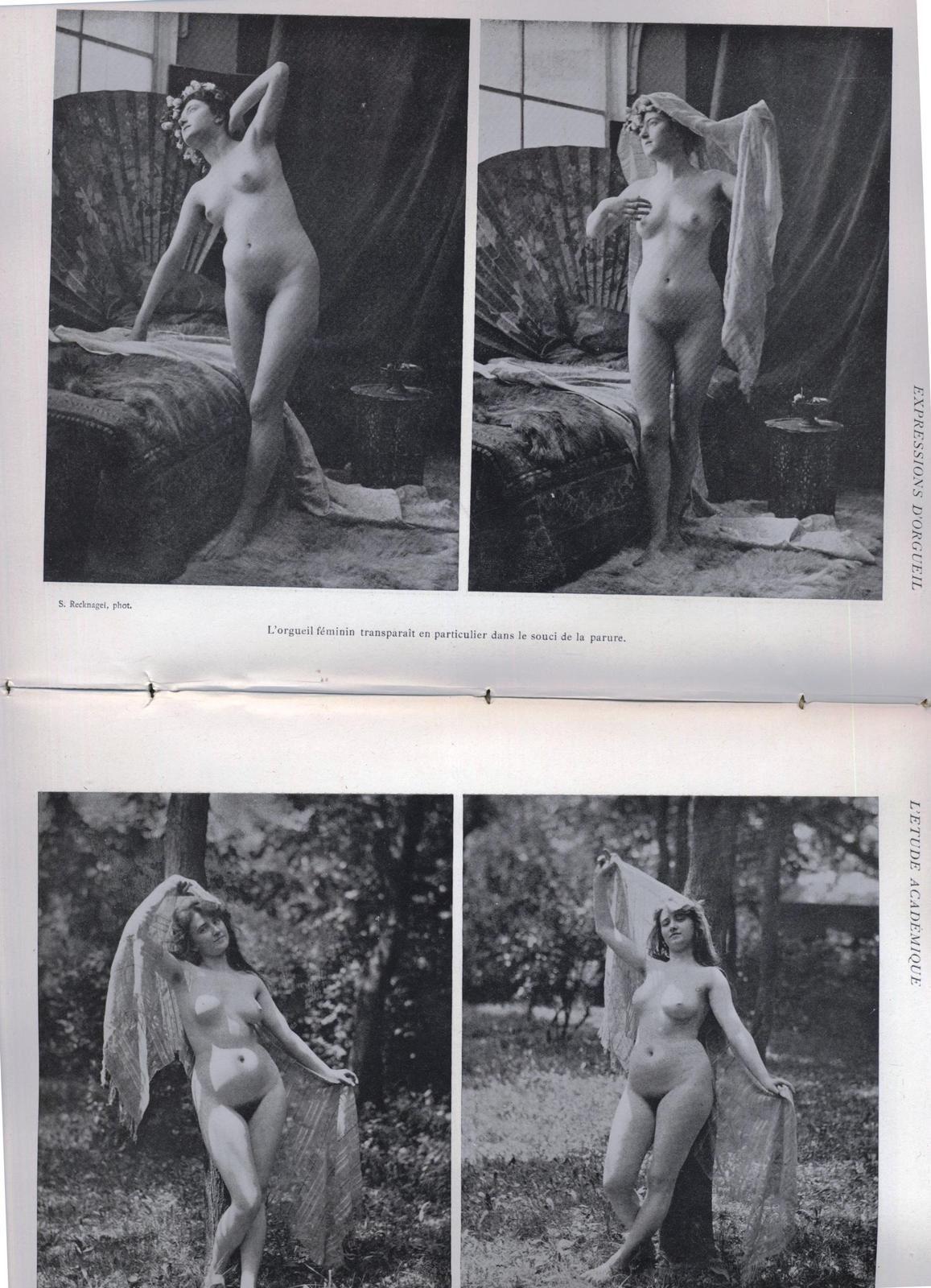 VENDU Etude academique photographies de nus vers 1905