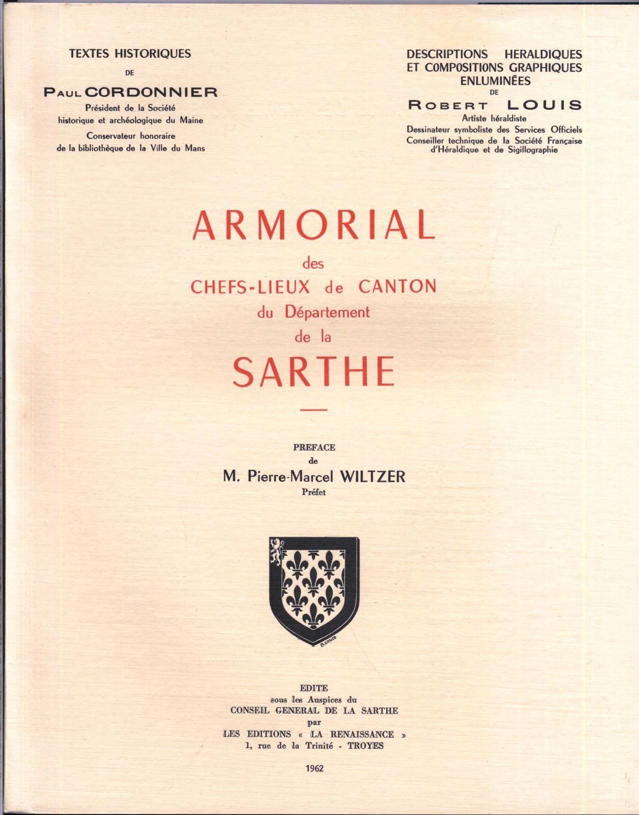 Armorial des communes de la Sarthe, Chefs lieux de canton numerote illustr? 1962