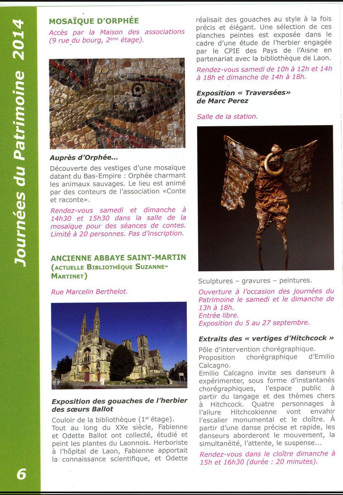 Journées du Patrimoine 2014-Laon _ 20/21 Septembre
