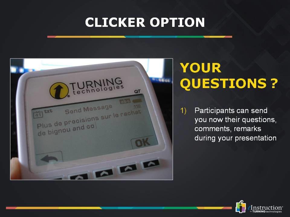 Demo du logiciel de vote TurningPoint5 sur le salon Confex à Londres