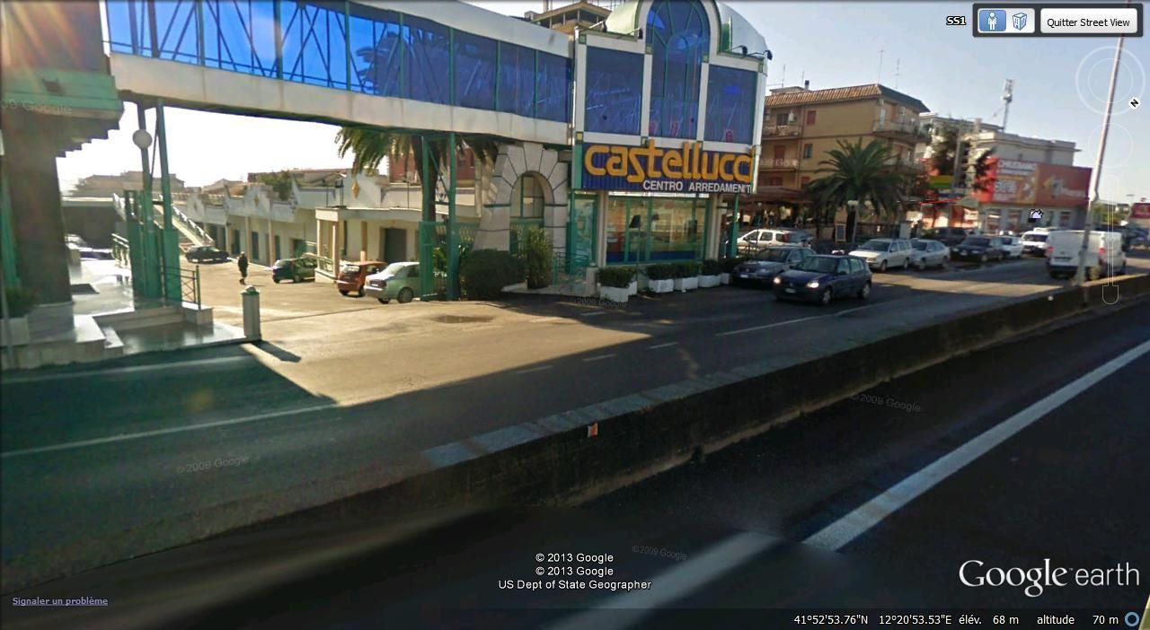 contrevoie de la via Aurelia