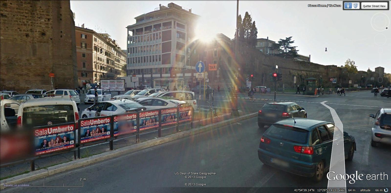 piazza Fiume ( Salario métro Castro Pretorio)