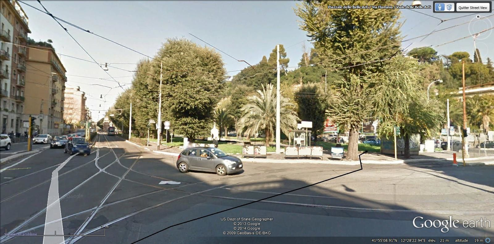 on arrive piazzale Belle Arti où se trouve le musée des pâtes