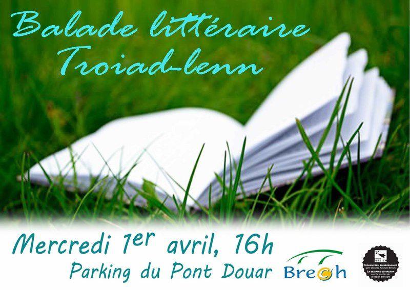 Ballade littéraire en breton dans le bourg de Brec'h