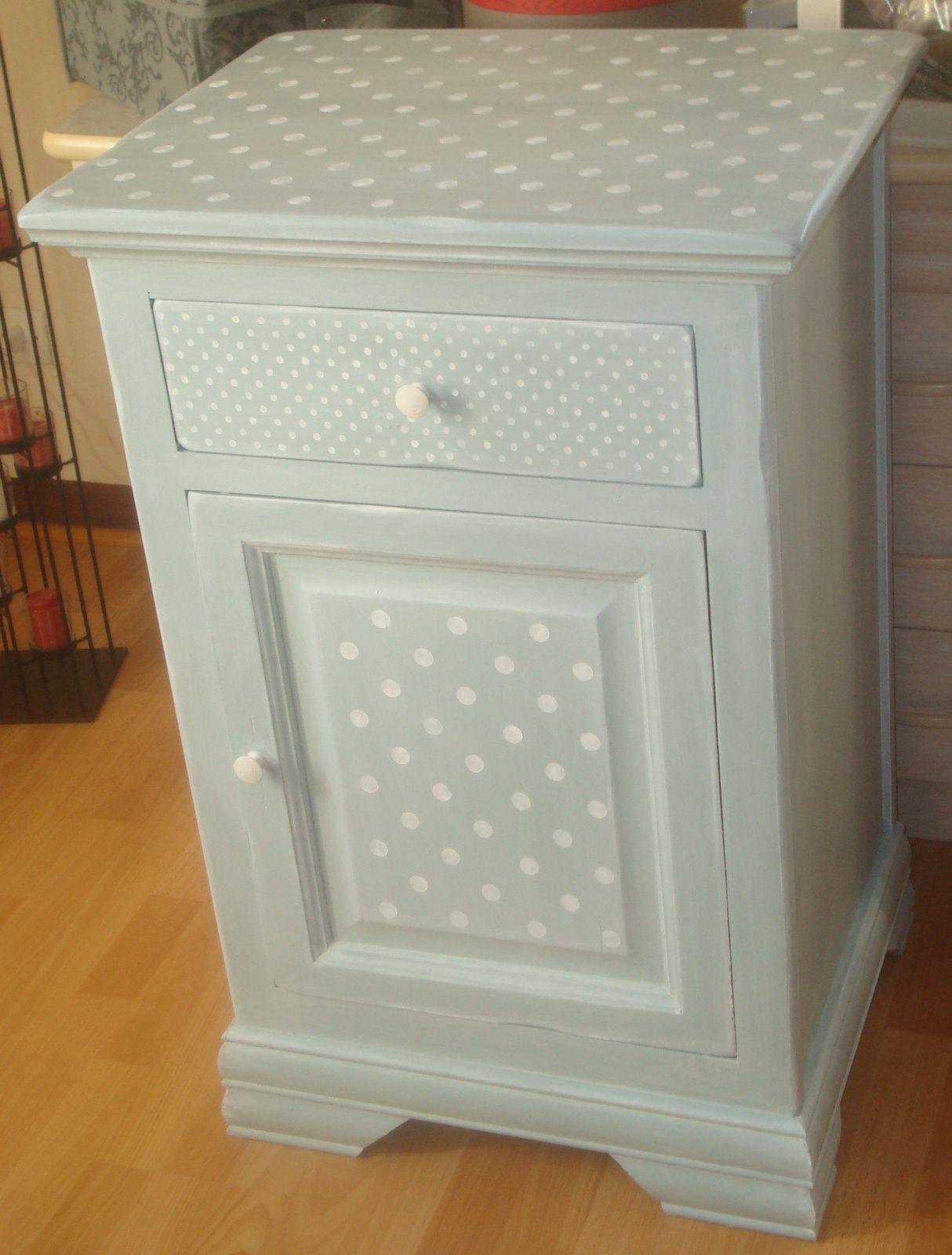 Relooking meuble en brume et petits pois relooker relouk relooking peindre - Relooking meuble bordeaux ...