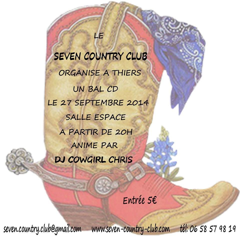 Bal Country ce week end du 27 Septembre 2014