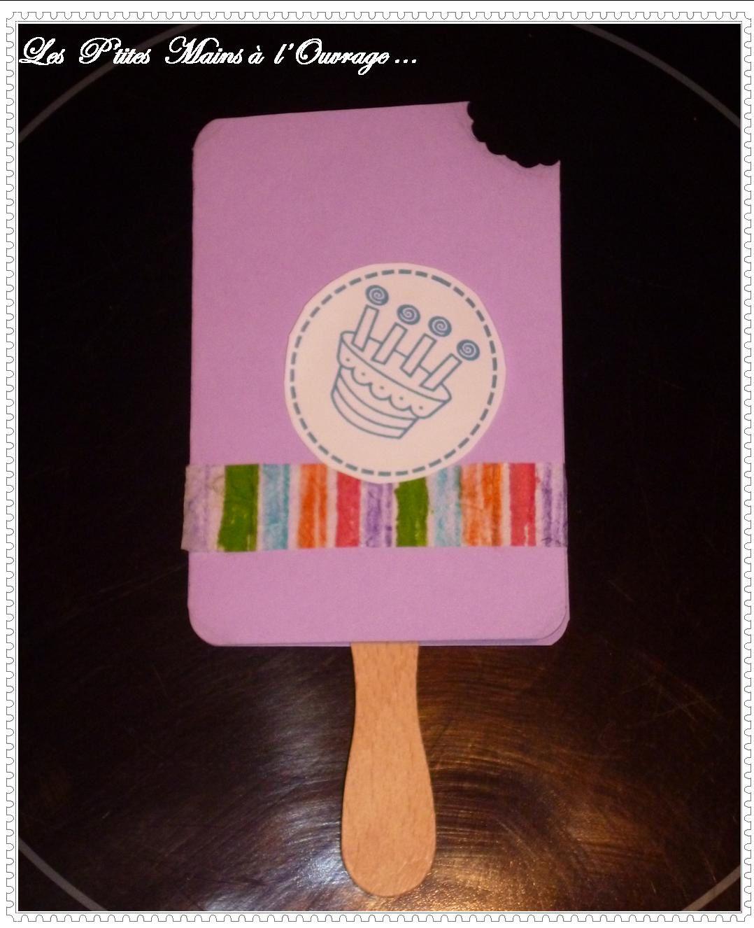 Carte d'anniversaire bâtonnet de glace
