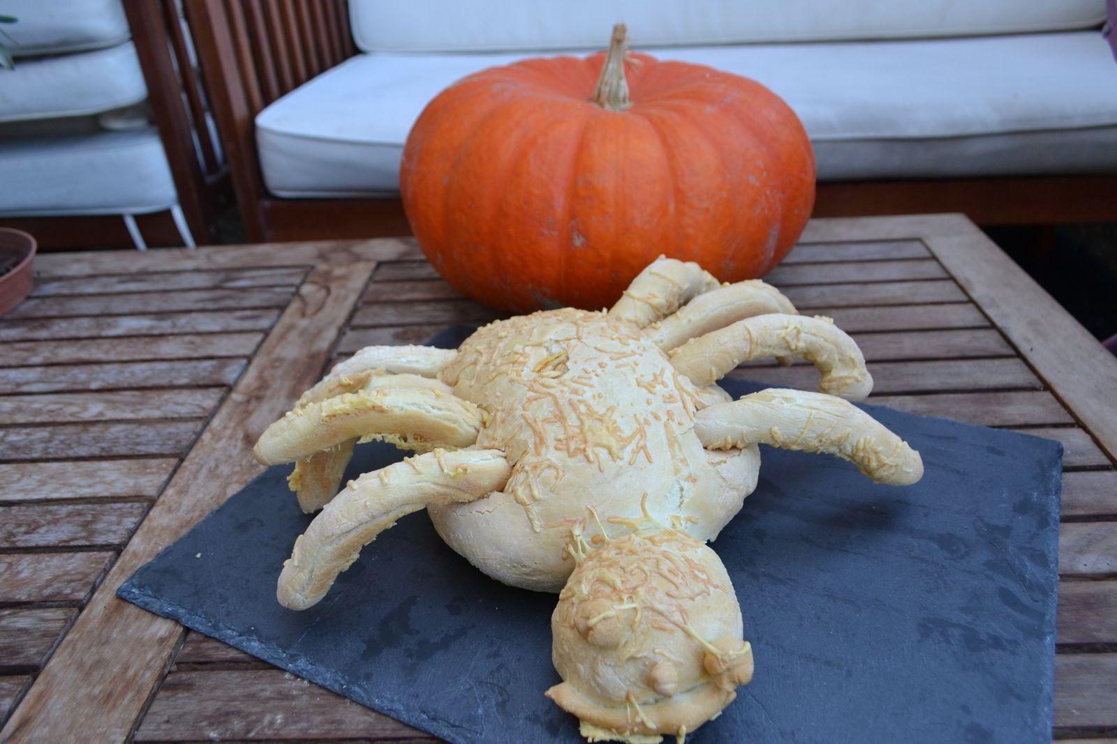 #Défi boulange# pain araignée pour halloween