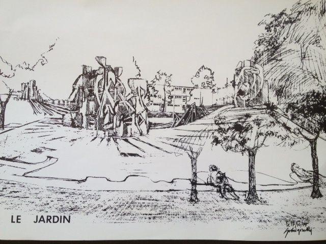 Rien de nouveau sous le soleil d'Epinay, en 1975 déjà la création d'un jardin était élaboré.