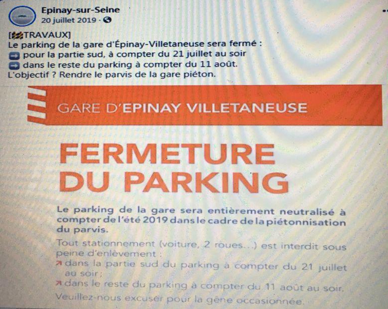 Parvis de la gare Épinay-Villetaneuse : béton et asphalte au rendez-vous !