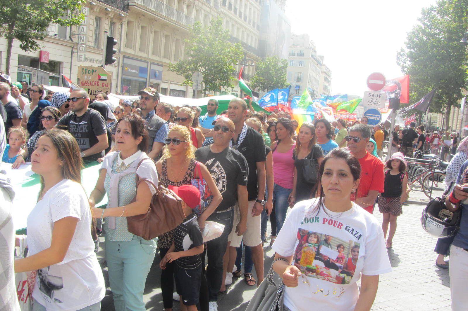 Manif' pour Gaza Marseille 20/25.000  manifestants (3/4000 selon la Police!)  le 19/07/14
