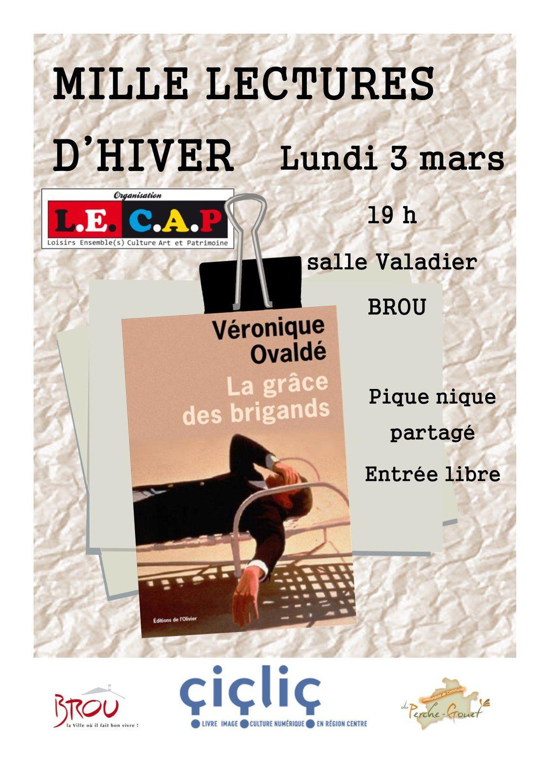 1 000 lectures d'hiver, 3 mars à Brou