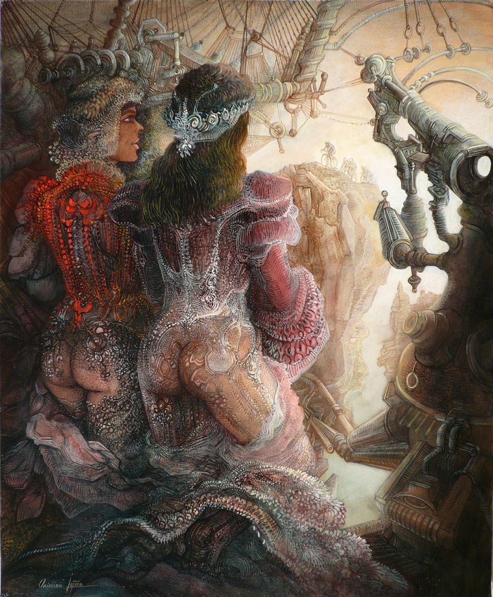 """""""Etape de montagne"""" - huile sur toile - 61 x 50 cm - 2008"""