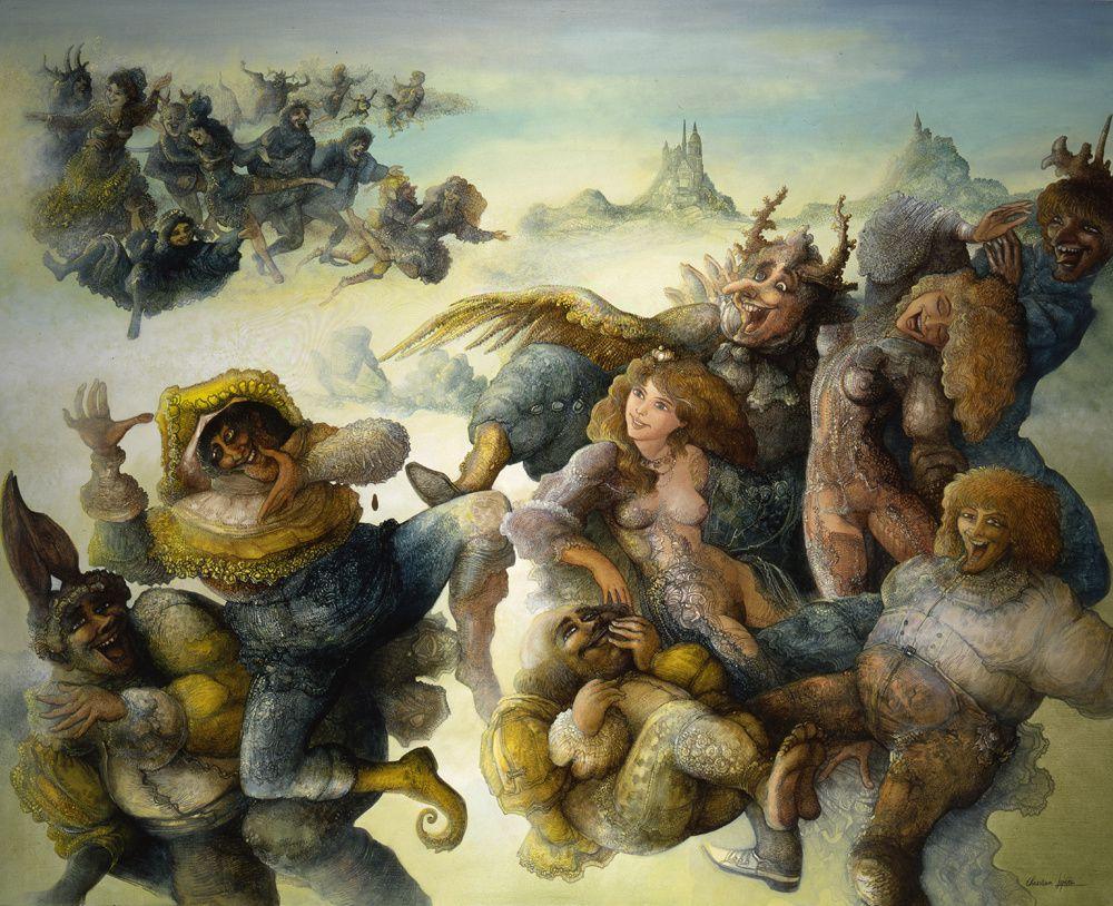 """""""Danse de Shiva"""" - huile sur toile - 100 x 81 cm - 1993"""