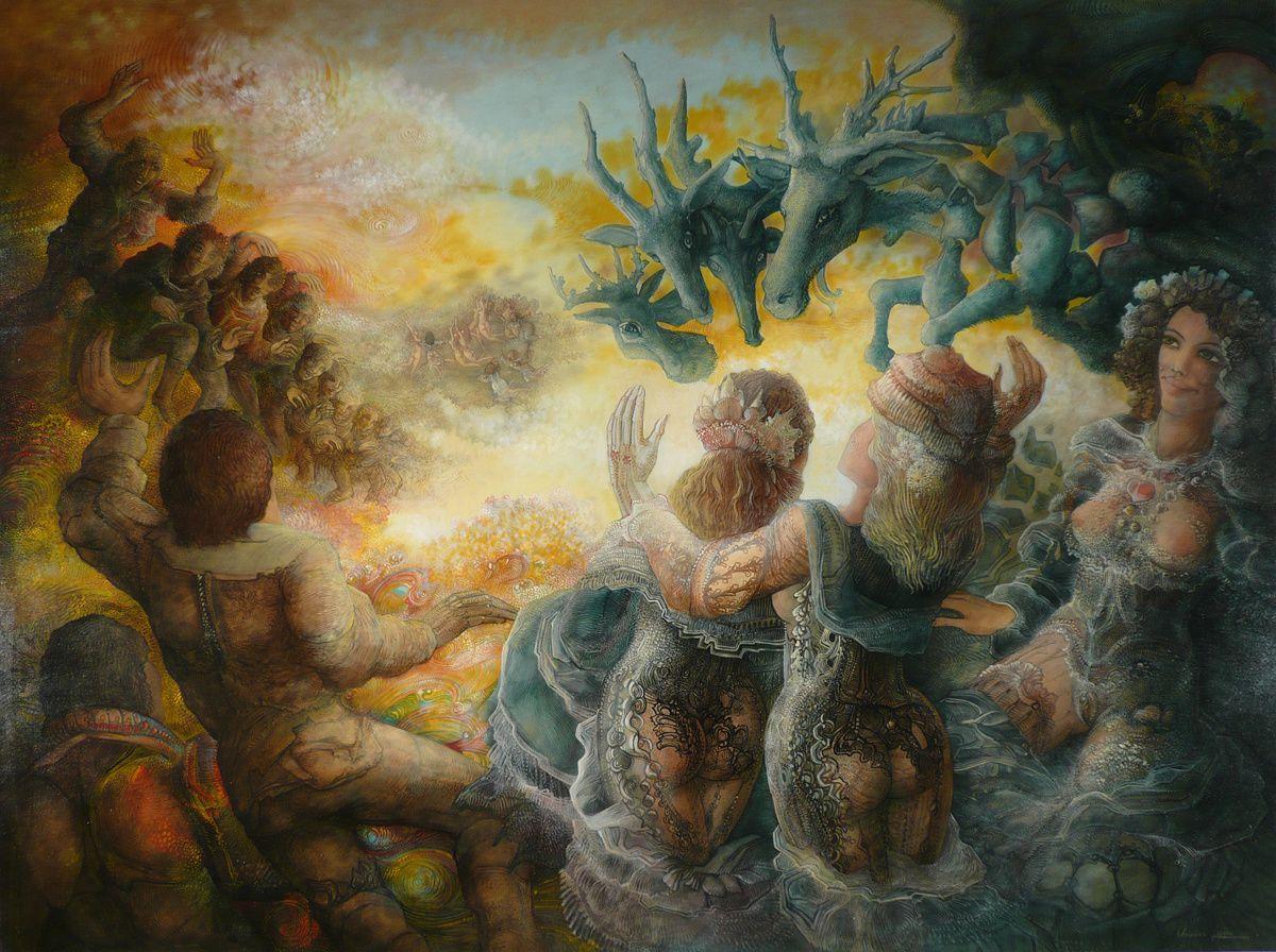 """""""Les vagues de la vie"""" - huile sur toile - 130 x 97 cm - 2008"""