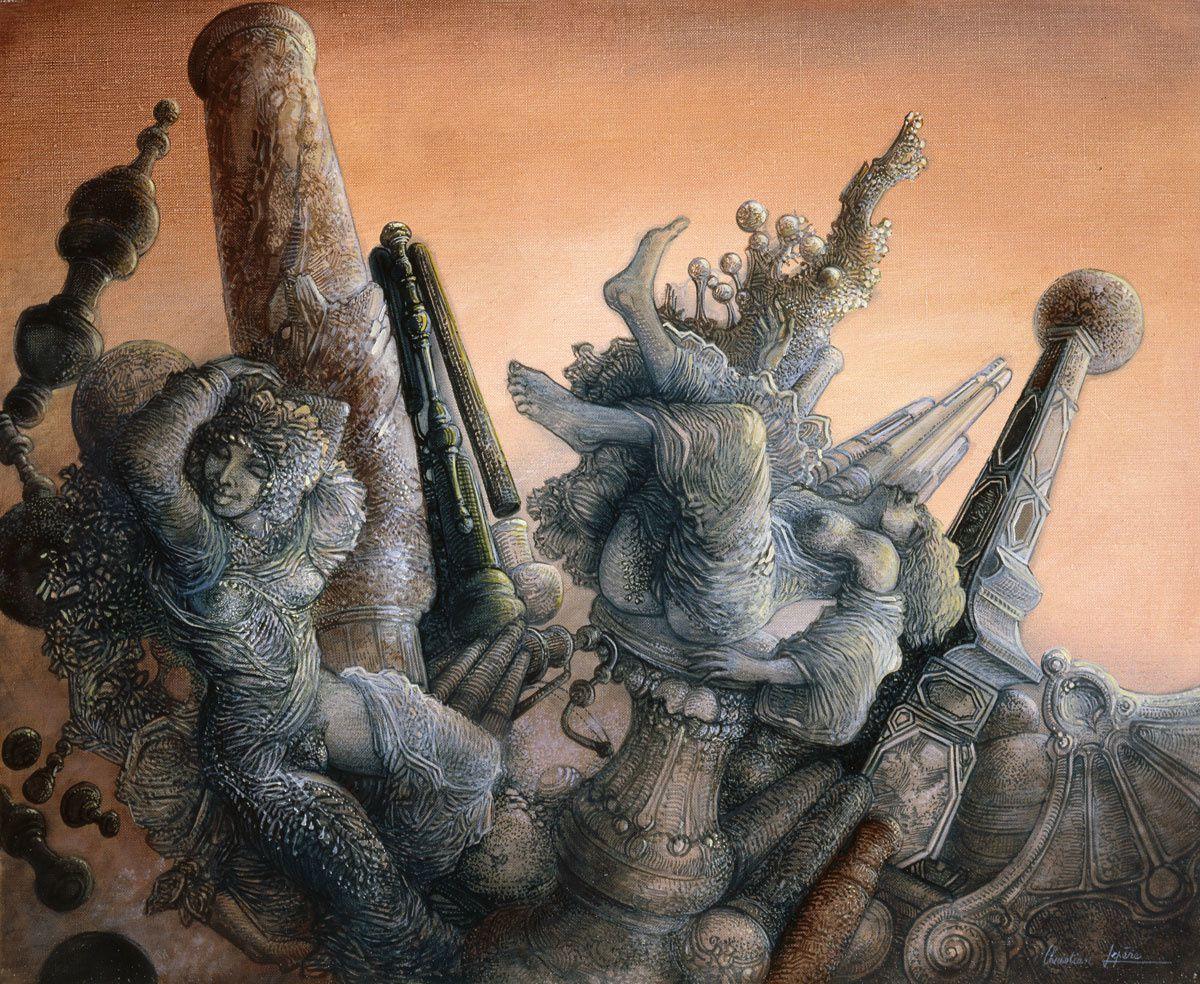 """""""Ruines extravagantes"""" - huile sur toile - 46 x 38 cm - 2005"""