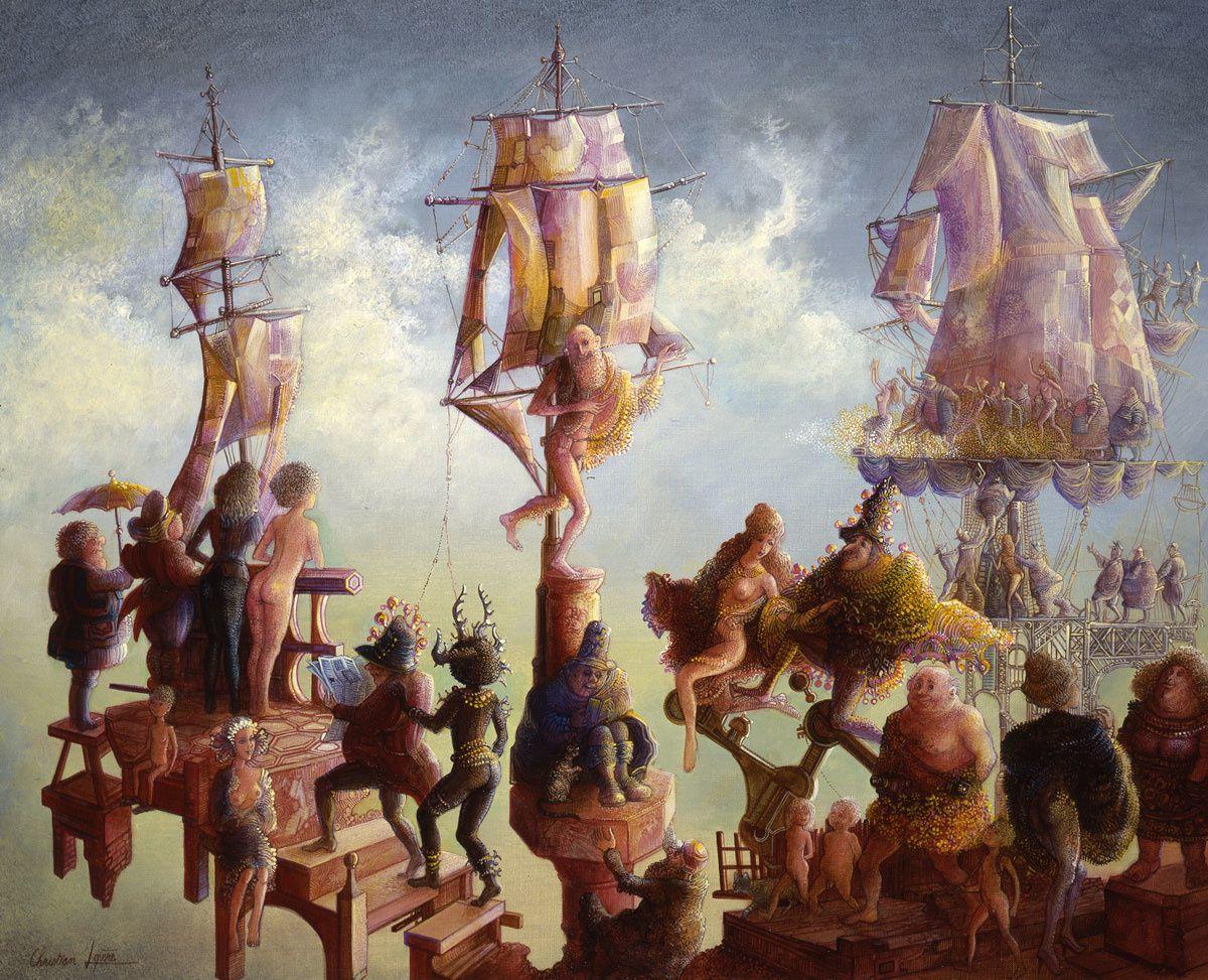 """'La vie en rose"""" - huile sur toile - 46 x 38 cm - 1989"""