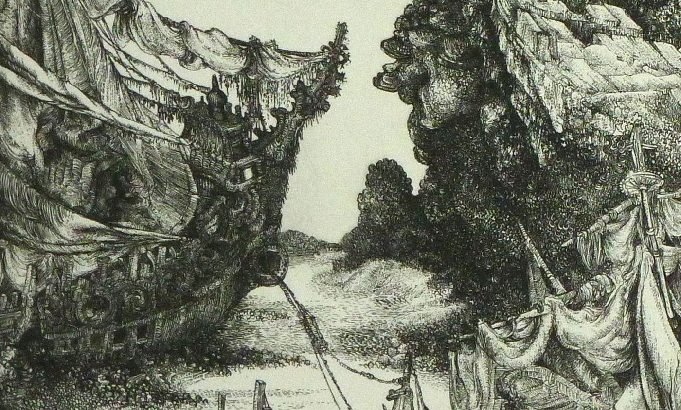 """""""Cimetière de bateaux"""" (détail) -"""