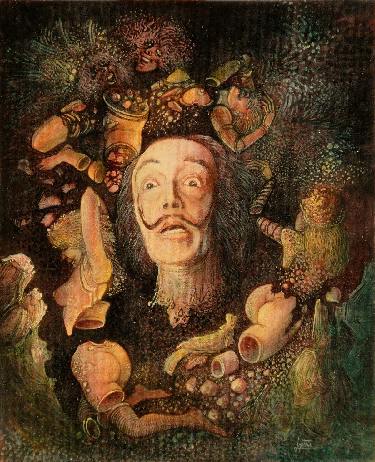"""""""Eros parano"""" - huile sur panneau - 22 x 27 cm - 2007"""